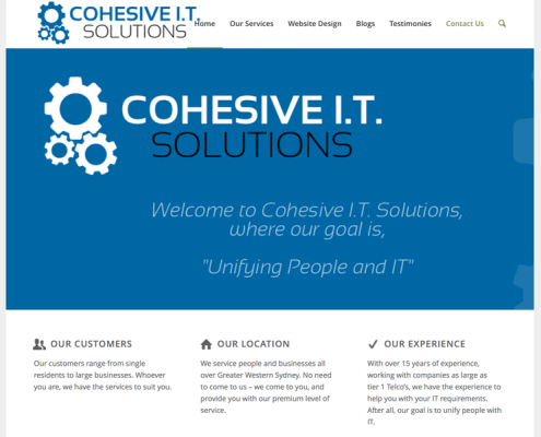Cohesive IT Solutions website screenshot