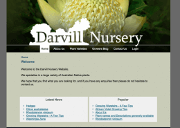 Darvill Nursery website screenshot built by Cohesive IT Solutions