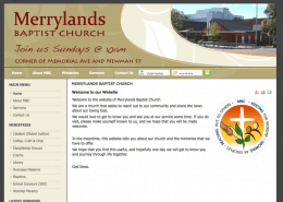 Merrylands Baptist Church website screenshot built by Cohesive IT Solutions
